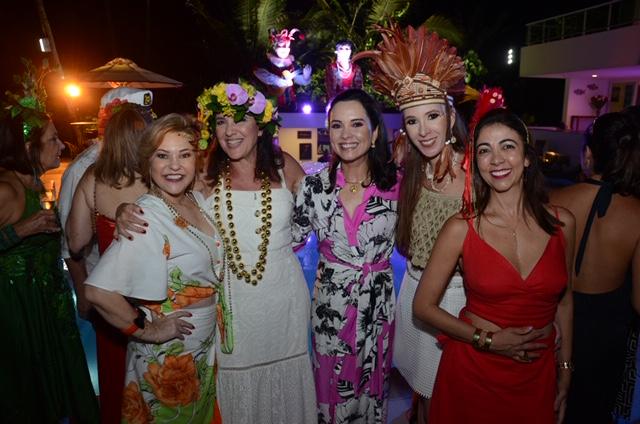 Roberta Jungmann, Wilma Figueiredo, Andrea Pinheiro Perez, Patrícia Schwambach e Rosinha Menezes. Fotos_ Gaúcho aeroc
