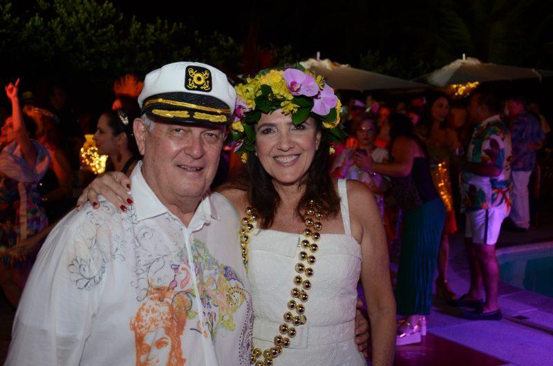 Os anfitriões da noite, Zé Henrique e Wilma Figueiredo, que fizeram uma prévia inesquecível na sexta (8). Foto: Gaúcho Aeroc