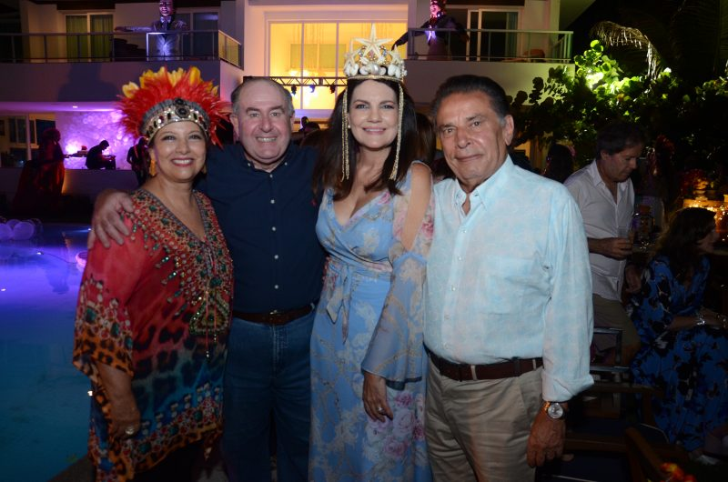 Martinha e Marcos Freire com Leila Queiroz e o ex-governador de Pernambuco, João Lyra. Foto: Gaúcho|Aerorec