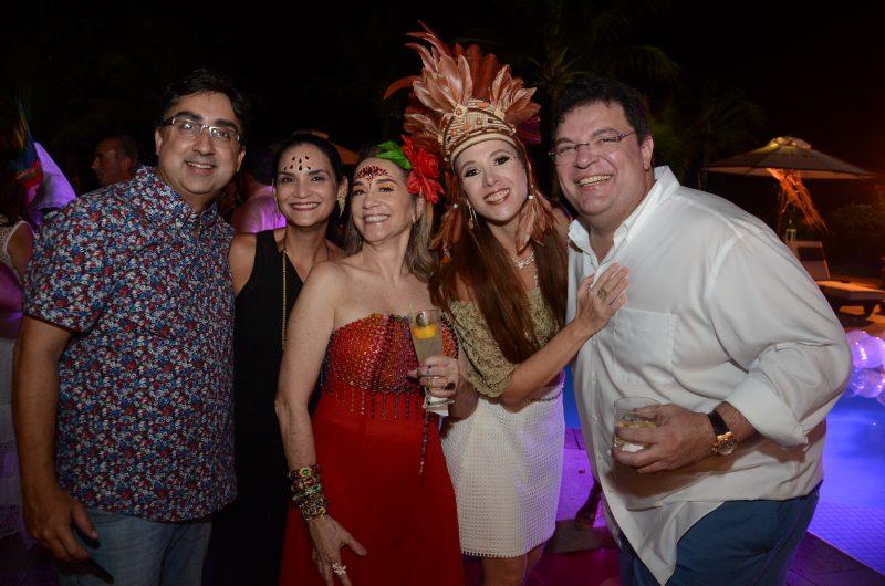 Roberto e Cinara Tavares, Paula Meira, Patrícia Schwambach e Alexandre Lins. Foto Gaúcho|Aerorec