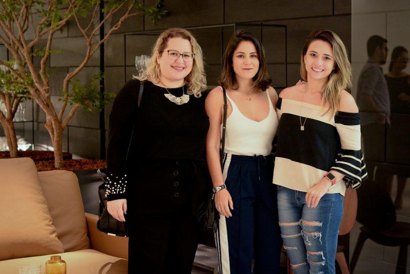 Marcela Gouveia com as sócias da We Arquitetos, Camila Horta e Eduarda Jungmann. Fotos: Jose Brito