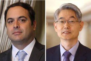 O governador Paulo Câmara e o embaixador da Coreia do Sul no Brasil, Chan-woo Kim - Foto: Divulgação