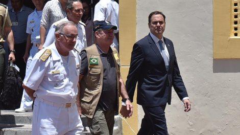 O ministro da Defesa, general Fernando Azevedo e Silva, reuniu-se com o governador Paulo Câmara nesta terça-feira (22) - Foto: Rafael Furtado