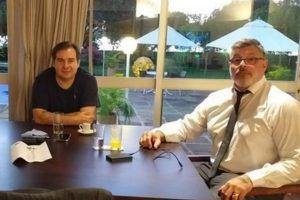 O presidente da Câmara, Rodrigo Maia, e o deputado Alexandre Frota na residência oficial da presidência da Casa - Foto: Reprodução