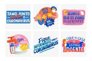 Figurinhas sobre coronavírus - Foto: Divulgação.