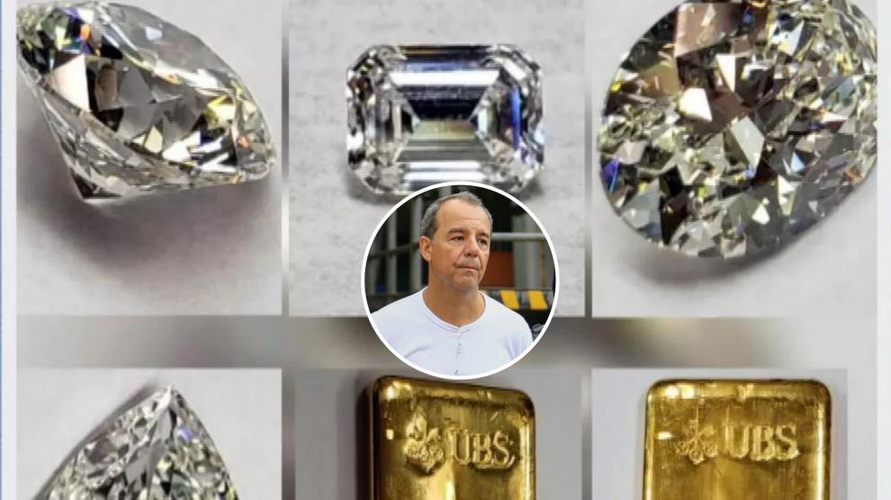 Ouro e diamantes e que pertenciam a Sérgio Cabral vão a leilão
