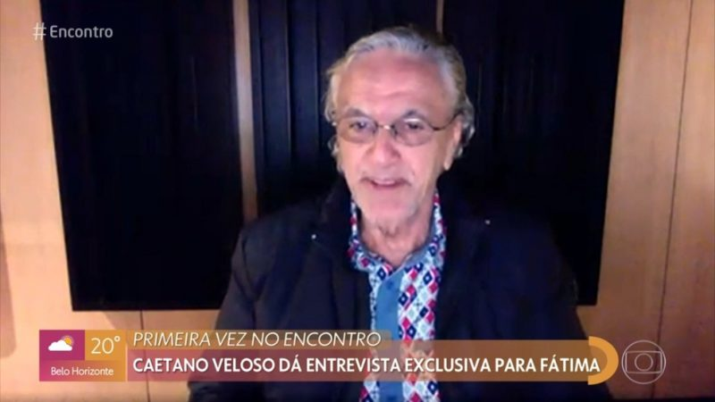 """""""Estou com medo de errar"""", diz Caetano Veloso sobre primeira live"""
