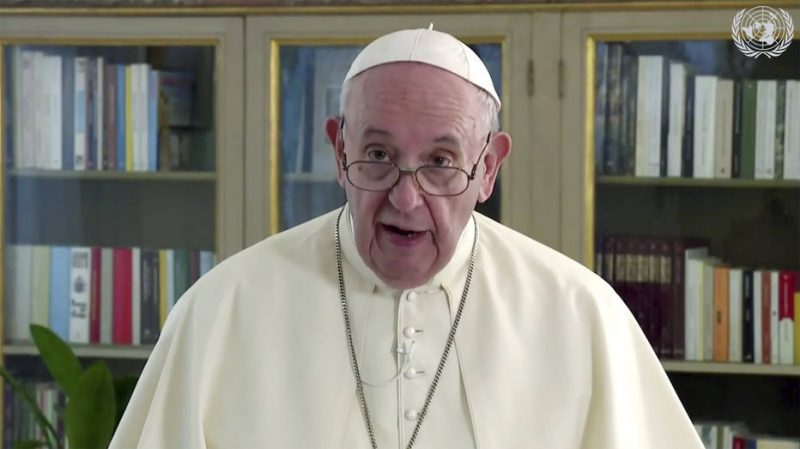 Papa Francisco durante discurso na ONU