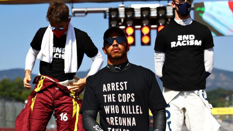 Hamilton faz novo e duro protesto contra o racismo nos EUA